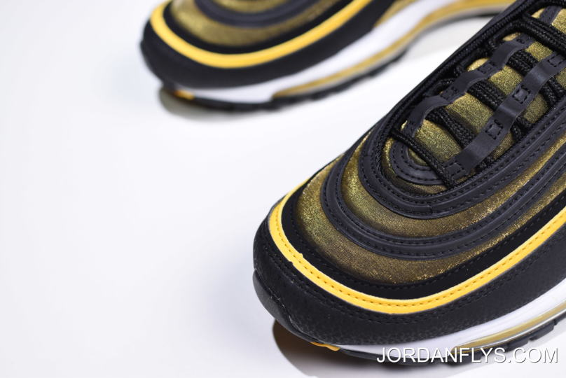 wholesale dealer f797f 0d91a Latest Nike Air Max 97 Black/Yellow Sale Free Shipping