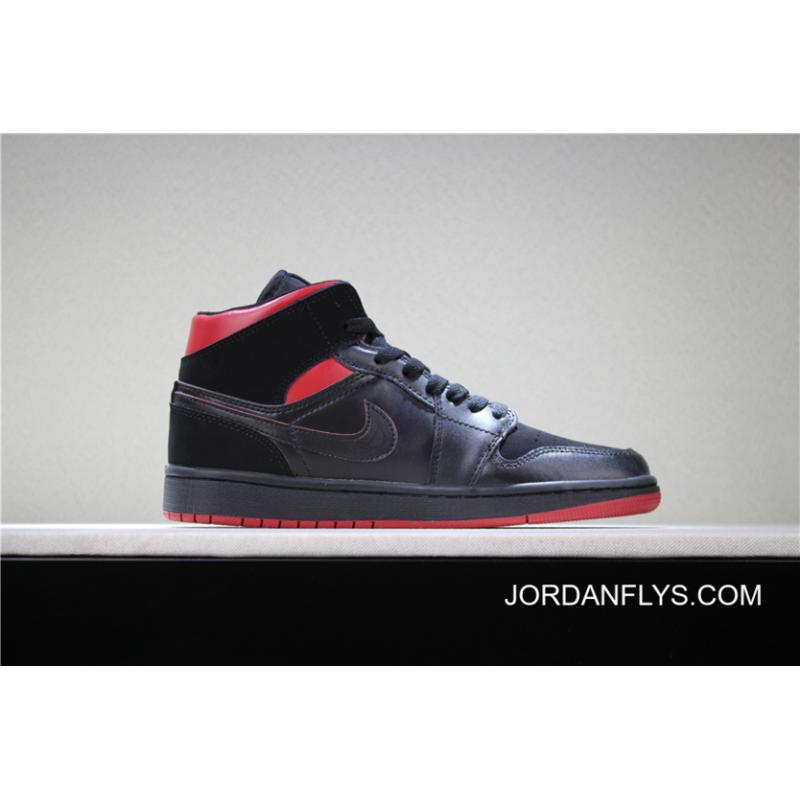 """afce2445315 Air Jordan 1 Mid """"Last Shot"""" Black Red-Yellow Men s And Women s Size ..."""
