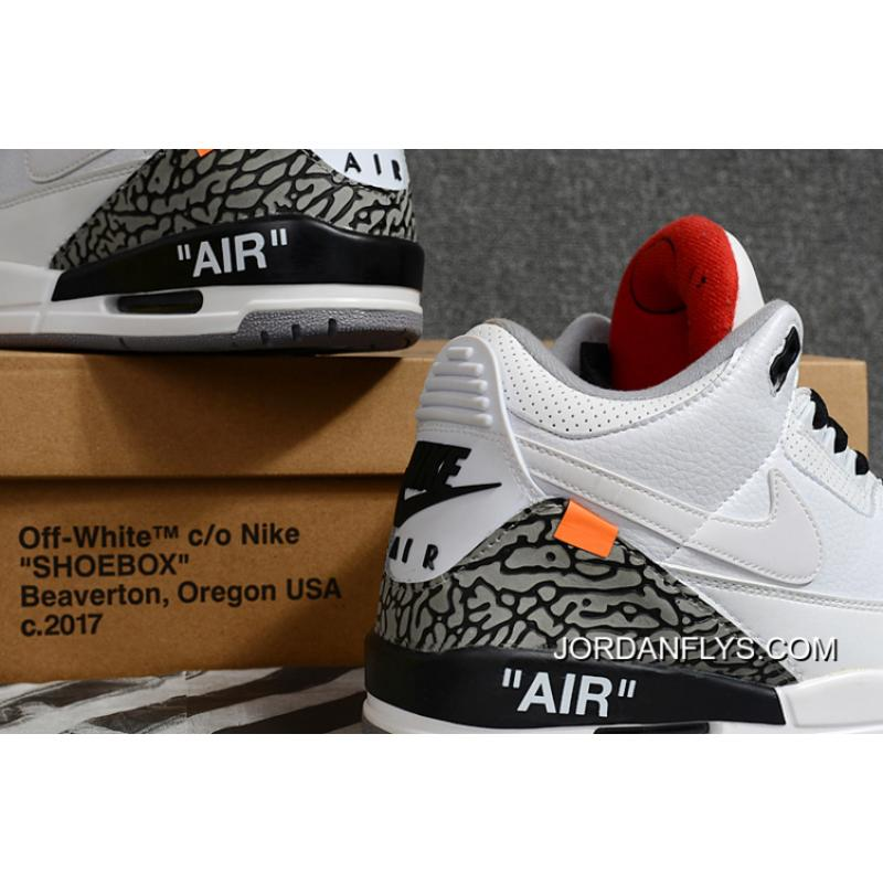 """reputable site 07a04 cf745 Buy Now Off-White X Air Jordan 3 """"White Cement"""" Free Shipping"""