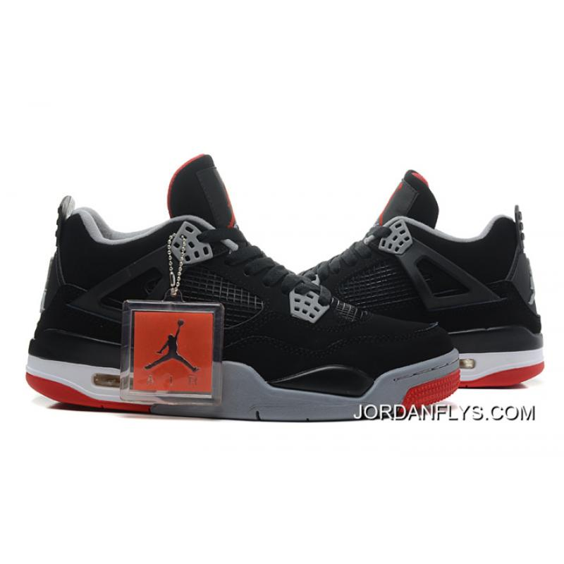 """f0d19dc906cd For Sale New Air Jordan 4 Retro """"Bred"""" Black Cement Grey-Fire Red ..."""