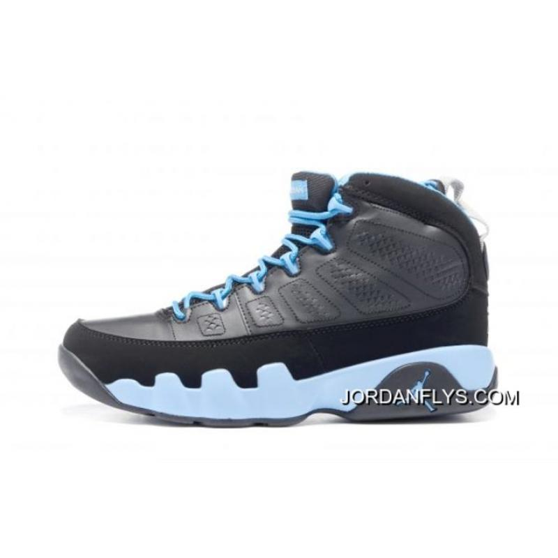 "best sneakers 4df85 95fb4 Air Jordan 9 Retro ""Slim Jenkins"" Black Matte Silver-University Blue 302370  ..."