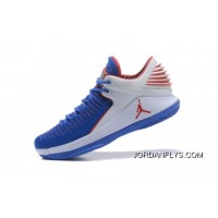 """50820b0027ef New Air Jordan 32 XXXII Low """"Andre Drummond"""" PE Royal White Red Big Deals"""