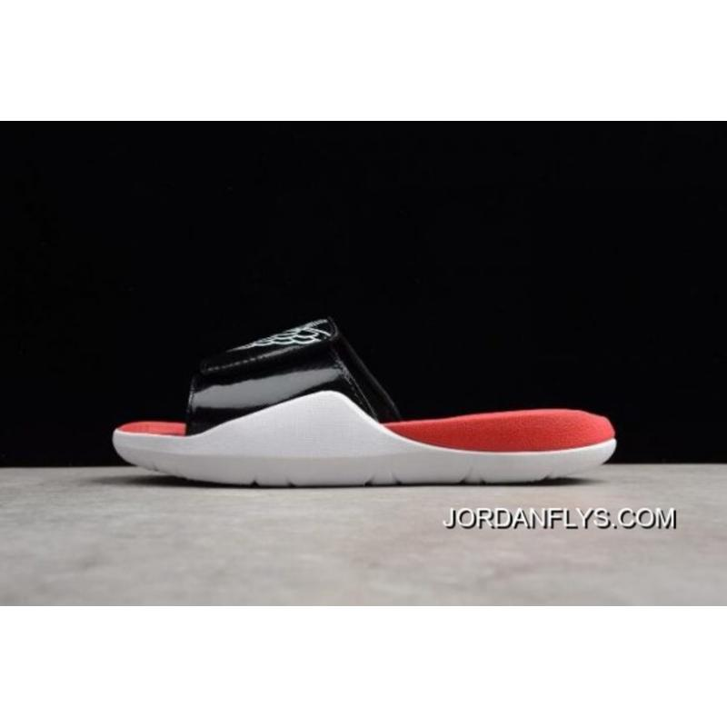 3a504aac304a Best Men s Jordan Hydro 7 Retro Slide Black White-Gym Red AA2517-001 ...