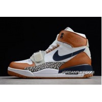 "Just Don X Jordan Legacy 312 ""Medicine Ball"" White/Midnight Navy-Ginger AQ4160-140 Authentic"