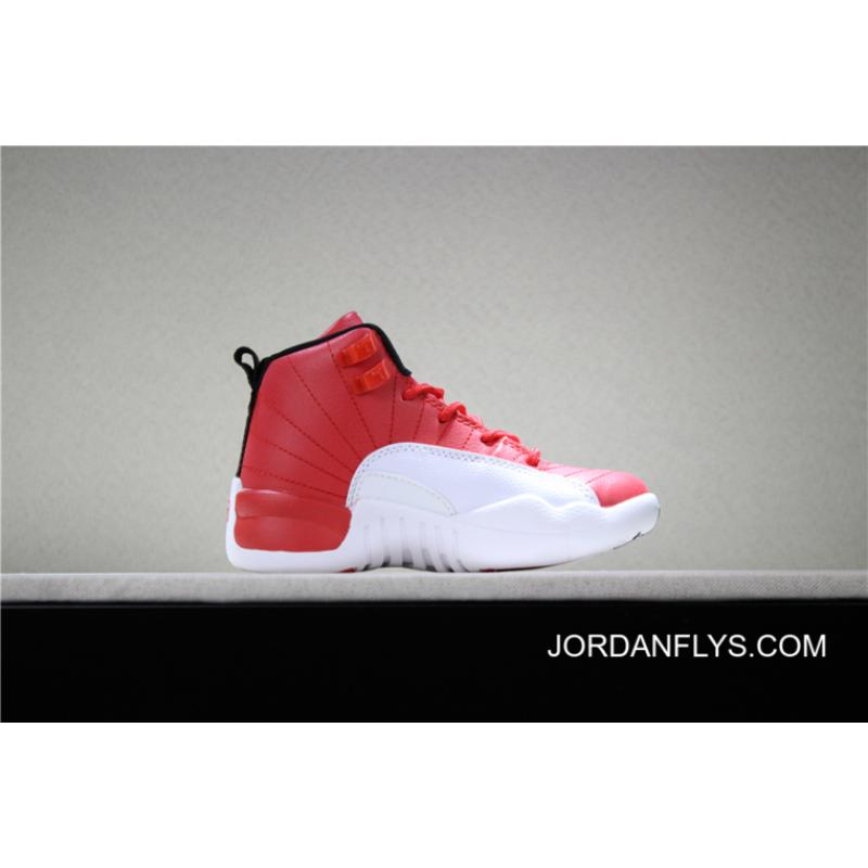 new style 2fca1 f4438 Big Deals Kid's Air Jordan 12 Gym Red/Black-White Sale Free Shipping
