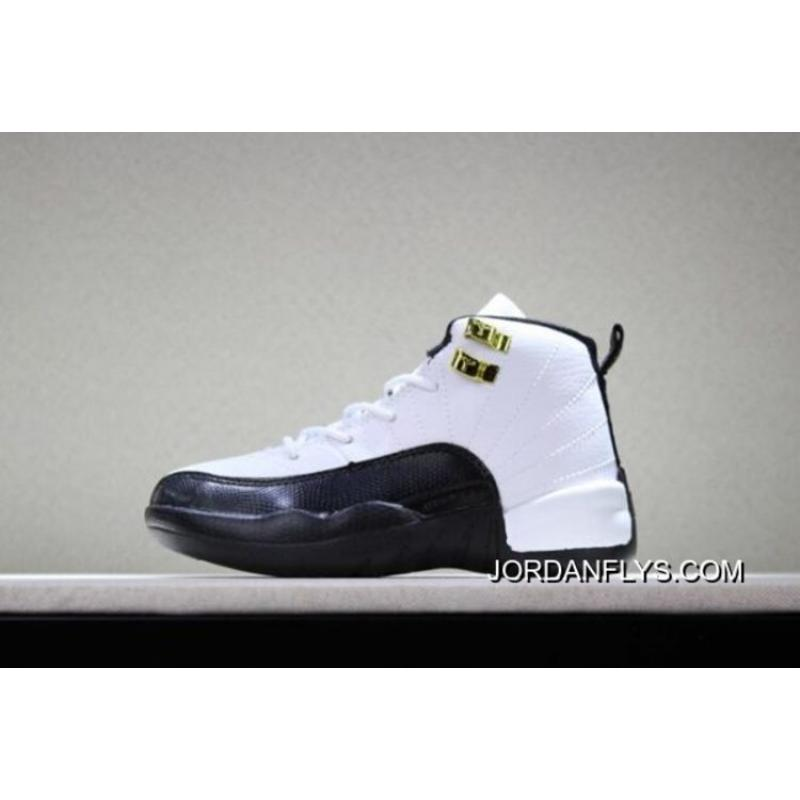 """new style f67d7 33360 200 New Release Kid's Air Jordan 12 """"Taxi"""" White/Black-Taxi"""