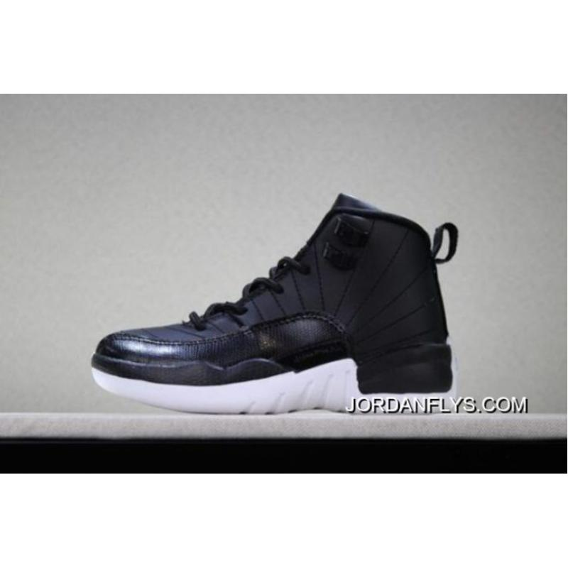"quality design a4019 dd78f For Sale Kid s Air Jordan 12 ""Black Nylon"" Black White-Gym Red ..."