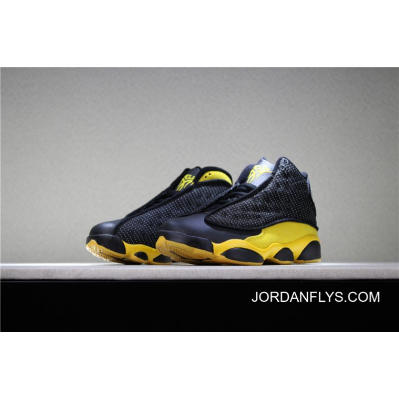 "los angeles df482 22421 For Sale Kid's Air Jordan 13 ""Melo"" PE Black Yellow Basketball Shoes"