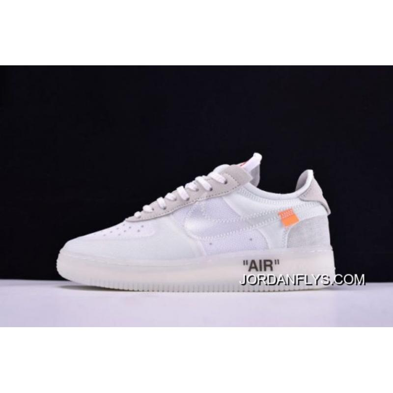 Latest Off White X Nike Air Force 1 Low Ghosting White Sail By