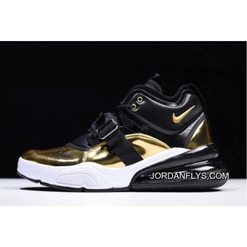 """Men s Nike Air Force 270 QS """"Gold Standard"""" AT5752-700 On Sale Latest ... cb241c5dc"""