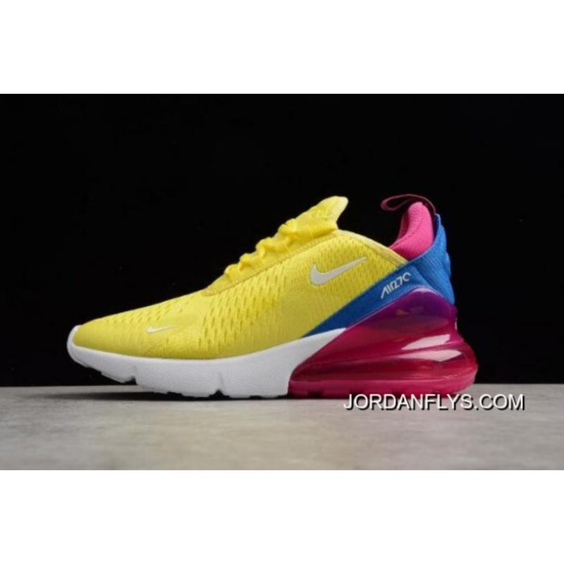 Top Deals Women's Nike Air Max 270 Bright Lemon Yellow/White-Racer Blue ...
