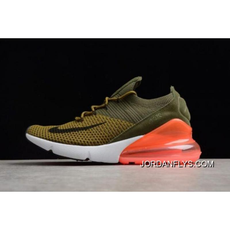 san francisco 1047f c949b Mens And WMNS Nike Air Max 270 Flyknit Army Green/Dark Green/Black/Red Best