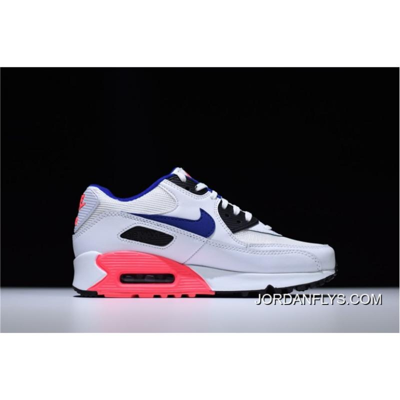 ... New Release Mens And WMNS Air Max 90 Essential White Ultramarine-Solar  Red- ... 702378c39