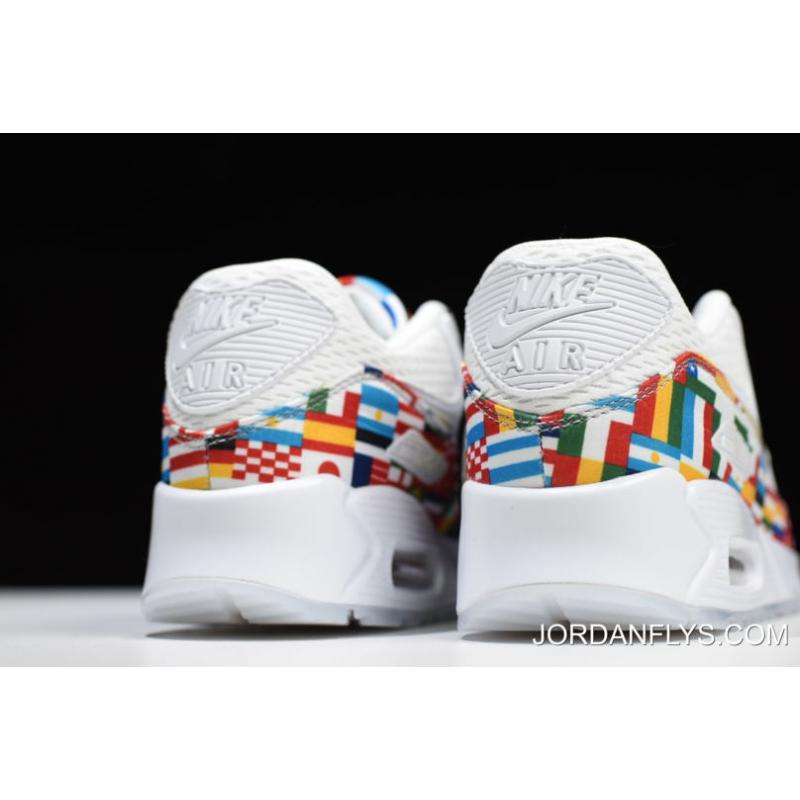 "32826aaf35 ... Big Discount Nike Air Max 90 NIC QS ""International Flag"" White/Multi-  ..."