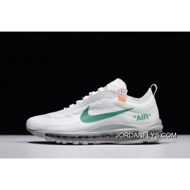 Virgil Abloh's Off White X Nike Air Max 97 OG Off WhiteWolf Grey White Menta AJ4585 101 Discount