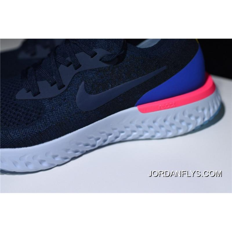 05d12a6e725 Discount Nike Epic React Flyknit College Navy/Racer Blue Running Shoe  AQ0067-400