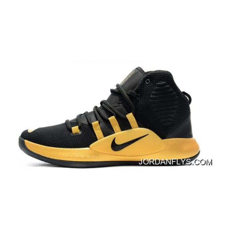 new styles 46004 7dca1 Big Discount New Nike Hyperdunk X Black Gold Men s Basketball Shoes ...