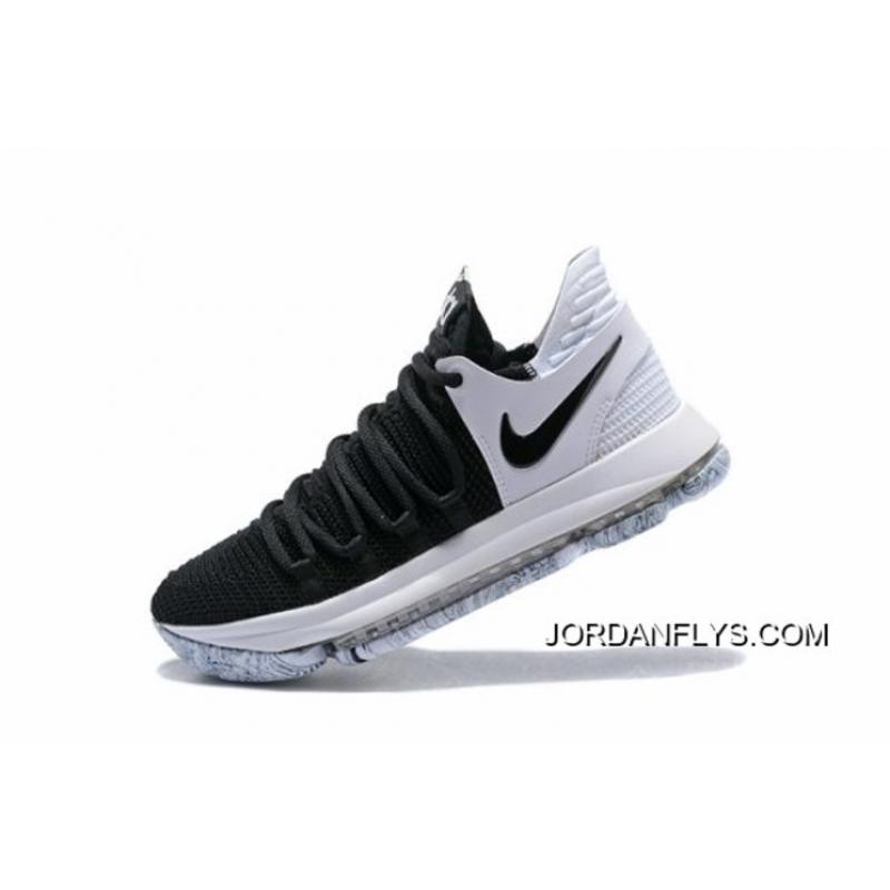 "size 40 d22e8 aa5dc For Sale Nike KD 10 ""Black White"" Men s Basketball Shoes 897815-008 ..."