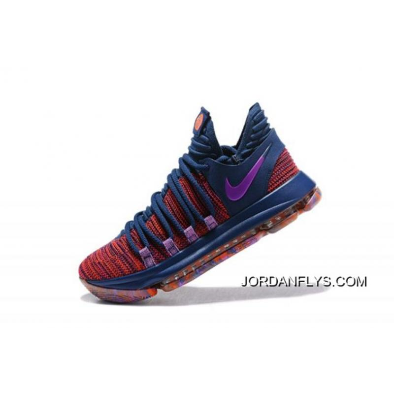 "buy popular 78472 7759b Men's Nike KD 10 ""All-Star"" Ocean Fog/Fuchsia Blast-Hyper Crimson  897817-400 New Year Deals"