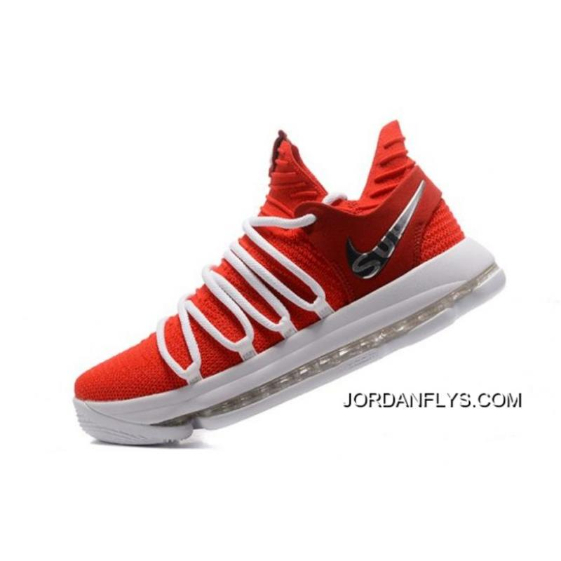 more photos 438c4 891e8 Where To Buy Supreme X Nike KD 10 University Red/White Men's Basketball  Shoes