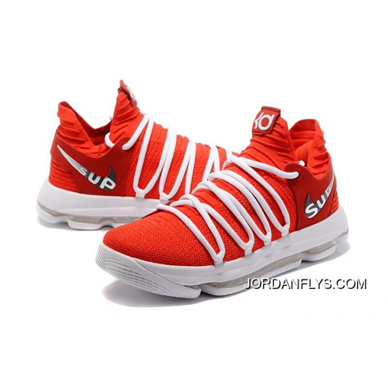best sneakers 31990 a611e ... inexpensive where to buy supreme x nike kd 10 university red white mens  basketball shoes 47b17