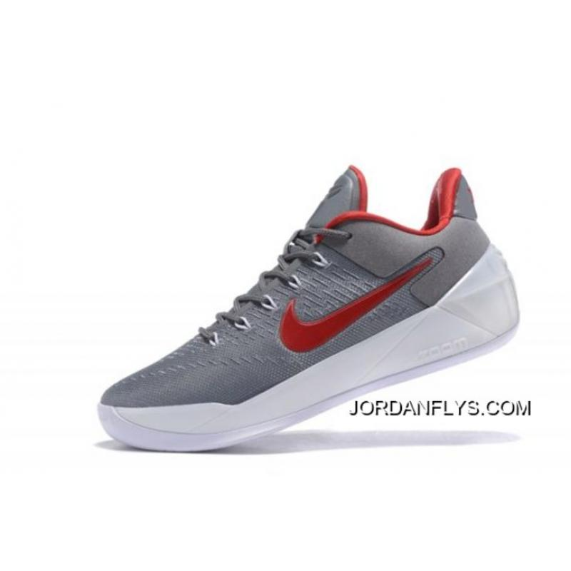 1be9bbd75d0 Nike Kobe A.D. Cool Grey Red-White Men s Size Sale Best ...