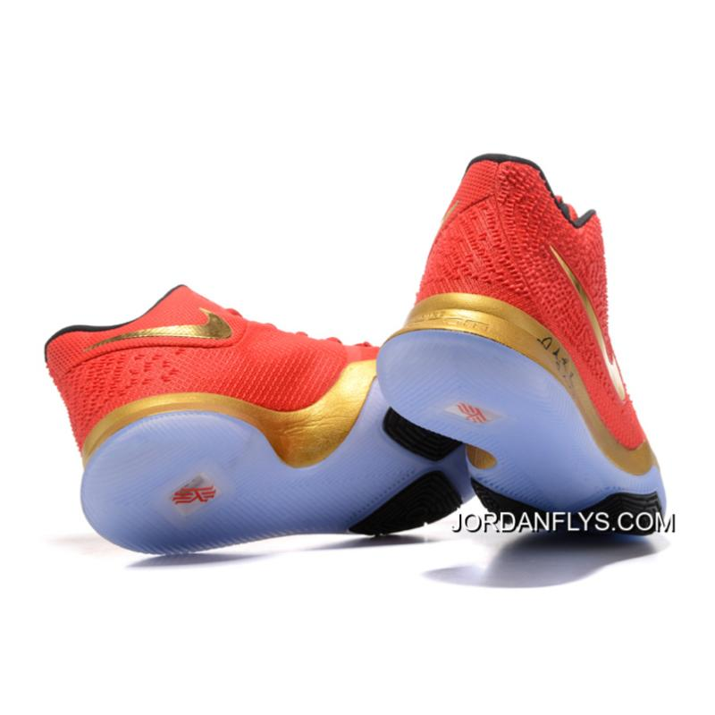 5e163fcbb6f ... Kyrie Irving Nike Kyrie 3 Red Metallic Gold-Black Basketball Shoes Hot  Sale Free ...