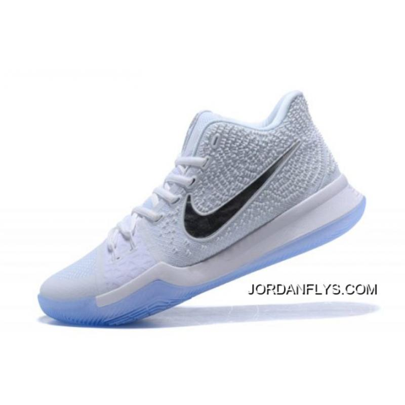 "85e191aa1480 New Year Deals Nike Kyrie 3 ""White Chrome"" Basketball Shoes 852395-103 ..."