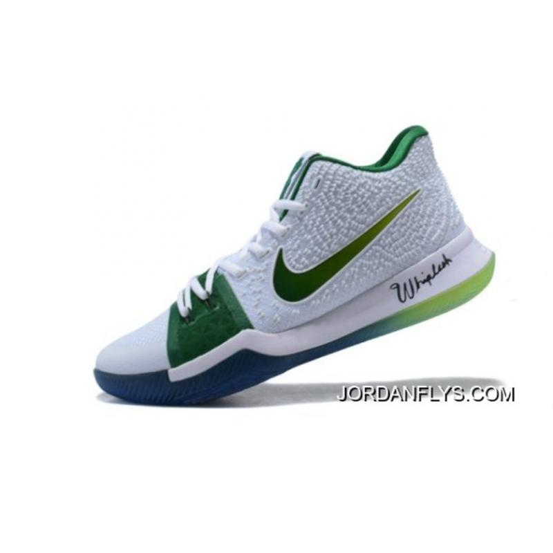 """new styles be92c a428e Men's Nike Kyrie 3 """"Boston Celtics"""" PE Kyrie Irving Basketball Shoes New  Year Deals"""