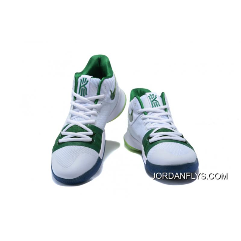 """8ac0f841a87 ... Men s Nike Kyrie 3 """"Boston Celtics"""" PE Kyrie Irving Basketball Shoes  New Year Deals ..."""