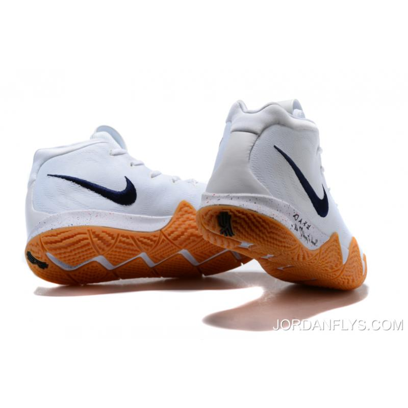 """promo code 8b92c 6dd90 New Year Deals Nike Kyrie 4 """"Uncle Drew"""" White Gum Men's Basketball Shoes  AQ8623-001"""