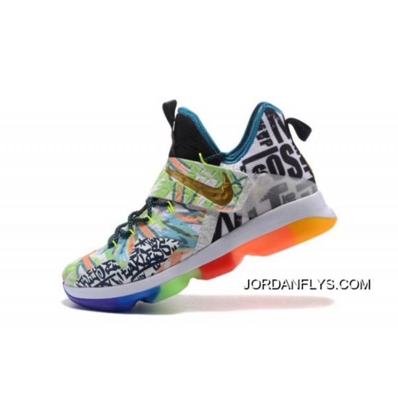 "16f85d58092d Discount Nike LeBron 14 ""Colorful"" Men s Basketball Shoes Free Shipping ..."