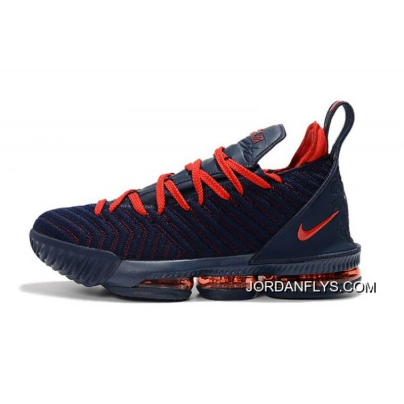 5be3ad32fdfe ... norway free shipping nike lebron 16 navy blue university red basketball shoes  on sale 2e6e2 1b92c
