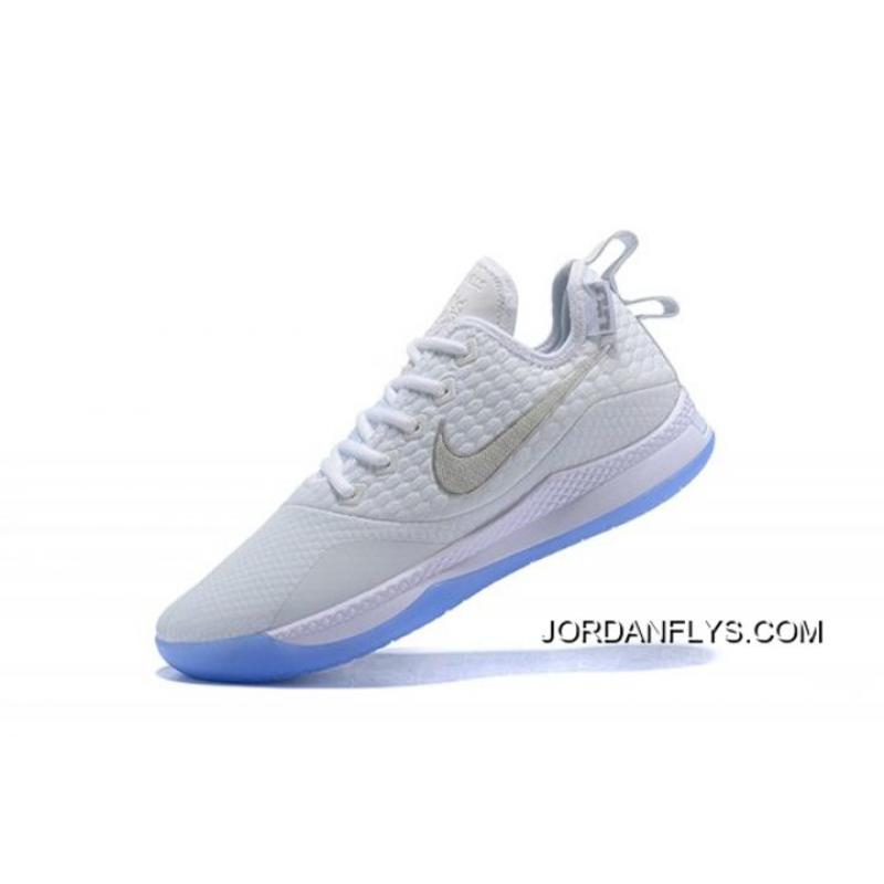 0c54cd4d5c4 Nike Lebron Witness 3 White Metallic Silver New Style ...