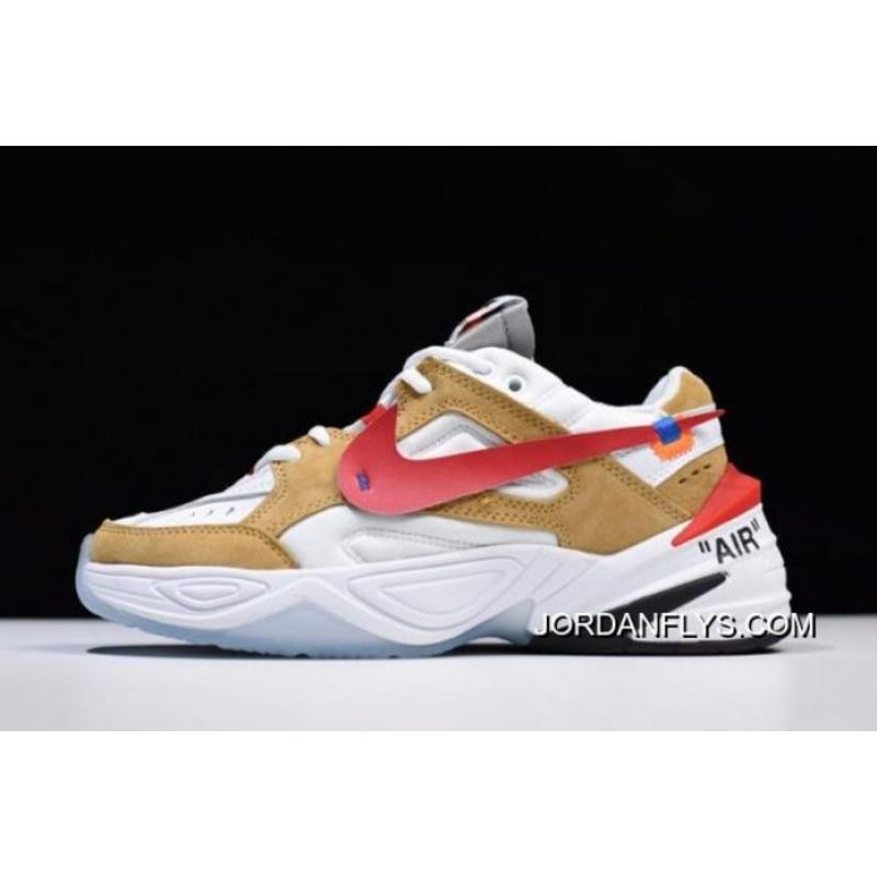 b9ed910caa9 Off-White X Nike M2K Tekno White/Wheat-Red Dad Shoes AO3108-200 Buy Now