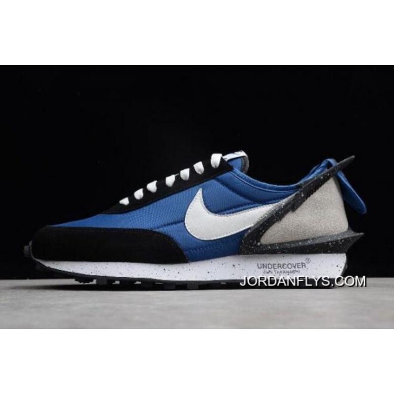 3d0950ac577 Women Men New Year Deals Undercover X Nike Waffle Racer Blue Black-White ...