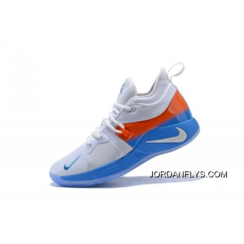 3e32d977861 Big Deals Nike PG 2 White Orange Blue Men s Basketball Shoes ...