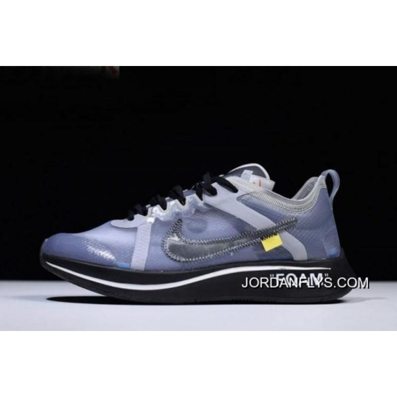 9d73ffa91aa6 Latest Mens And WMNS Off-White X Nike Zoom Fly SP Black Grey-White ...