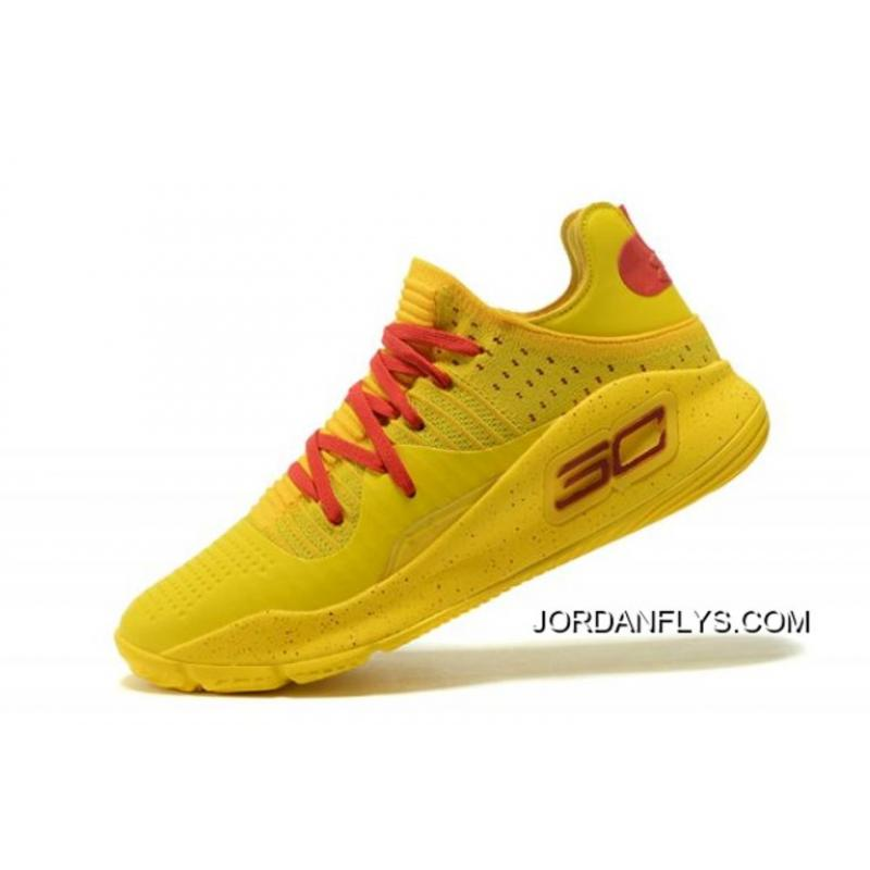 "7d82e805884b Top Deals Under Armour Curry 4 Low ""Bruce Lee"" Yellow Red Men s Basketball  ..."