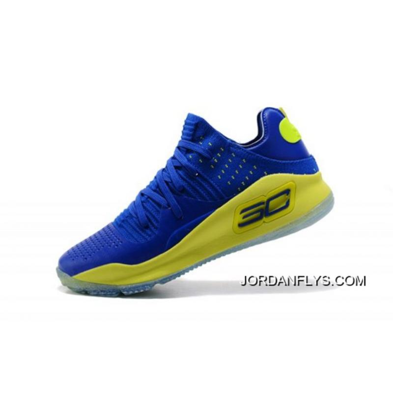online retailer c2a1d 801d9 Under Armour Curry 4 Low Blue/Green Men's Basketball Shoes Big Discount