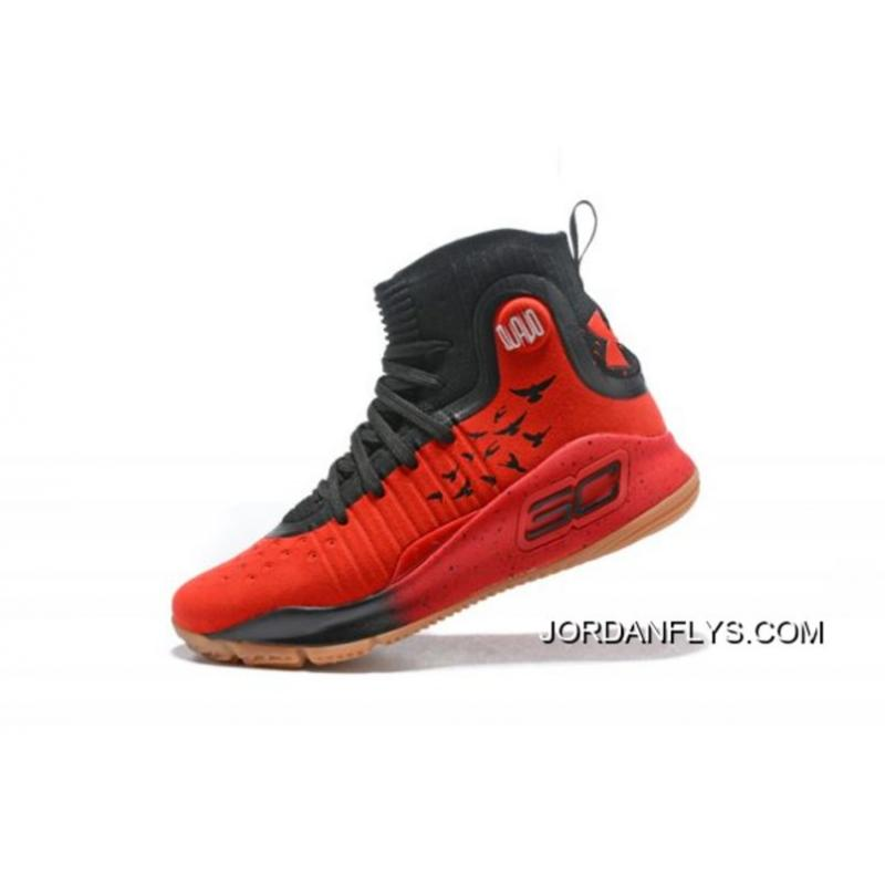 Best Under Armour Curry 4 Red Black-Gum Men s Basketball Shoes ... 2672548a0