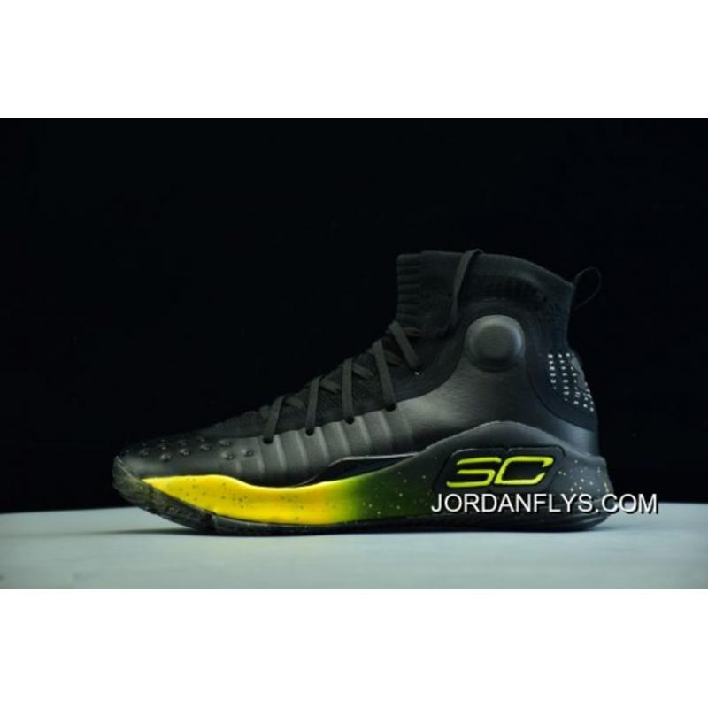 bfd515be482f Under Armour UA Curry 4 Black Yellow Men s Basketball Shoes New Style ...
