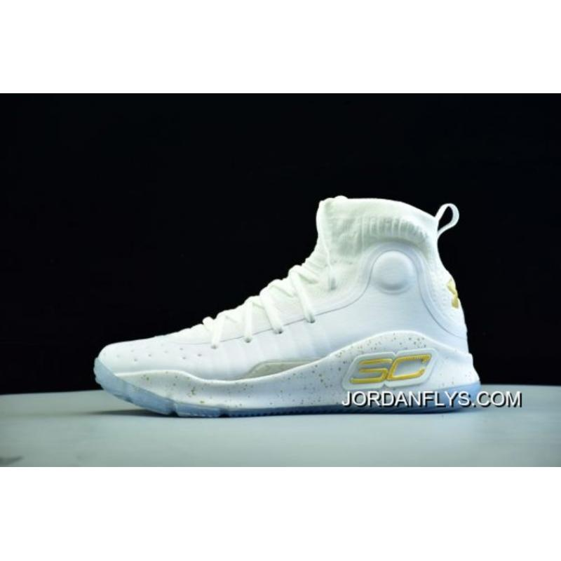 best cheap eb024 b168b Free Shipping Under Armour Curry 4 White/Metallic Gold Men's Basketball  Shoes