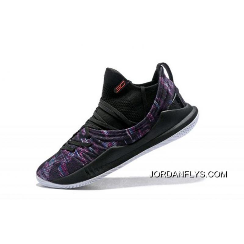 """new product a15e4 9dae5 Men's Under Armour UA Curry 5 Low """"BHM"""" Multi-Color/Black-White Basketball  Shoes Online"""