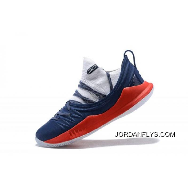 767ff1593a4d Online Men s Under Armour Curry 5 Low Navy Blue Red-White Steph Curry  Basketball ...