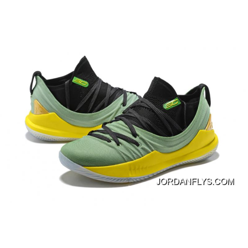 05f80d5ec71e ... Under Armour Curry 5 Low Black Green Yellow Basketball Shoes Free  Shipping ...