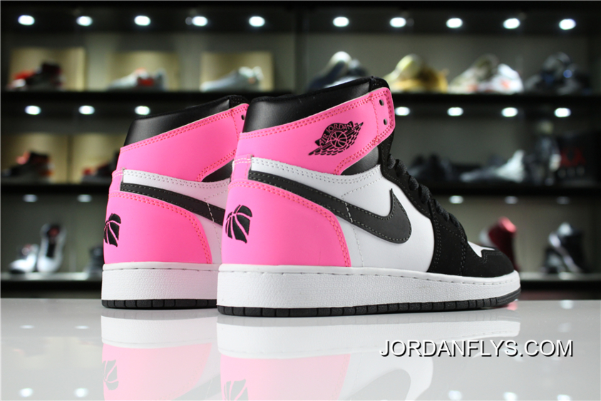 "8fd84a1538f1 Air Jordan 1 High OG ""Valentine s Day"" Black Hyper Pink-White 881426 ..."