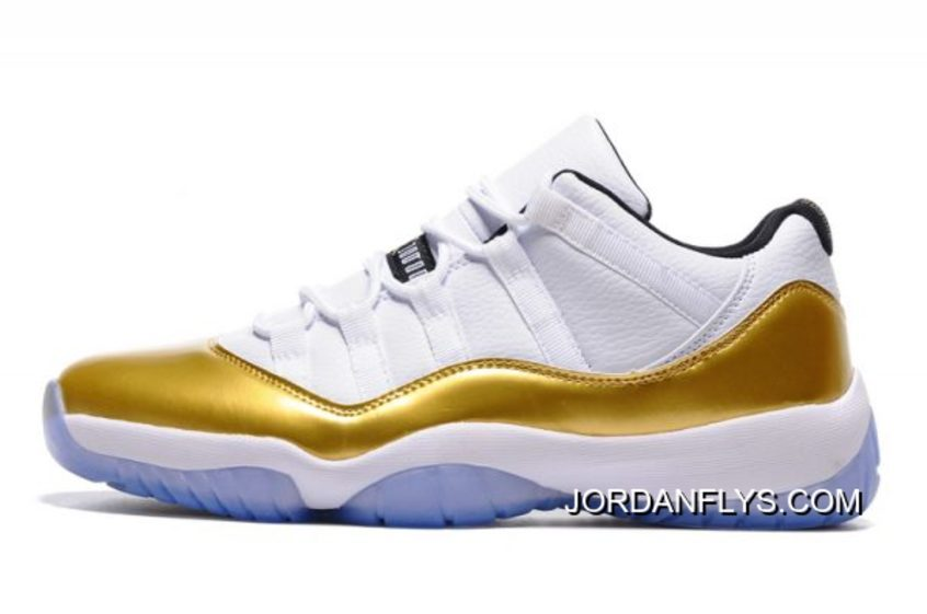 "5f6f2530dc3f77 200 Top Deals Air Jordan 11 Low ""Closing Ceremony"" White Metallic Gold Coin"