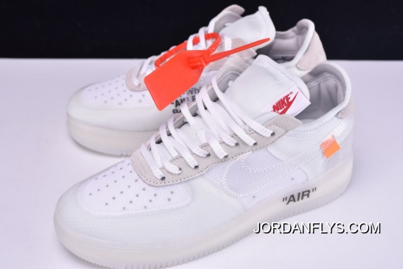 Ghosting Nike Latest Abloh By Virgil X Off White Air 1 Whitesail Force Low dCxoQBeWr