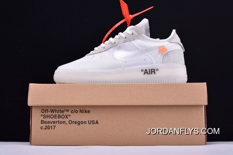 a678a1e80ade82 Latest Off-White X Nike Air Force 1 Low Ghosting White Sail By Virgil